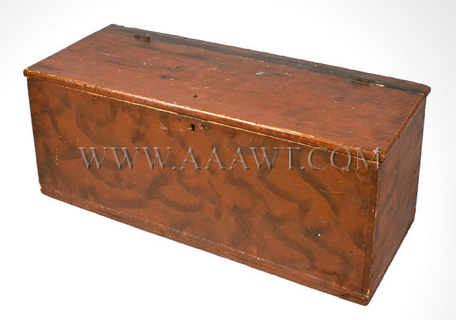 Country Box Paint Decorated 19th Century, entire view