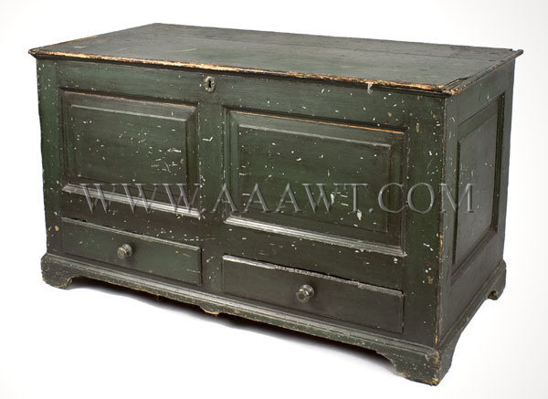 Paneled Blanket Chest With drawers 18th Century-Early 19th Century, entire view
