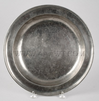 American Pewter Deep Dish Joseph Danforth, 1780 to 1788