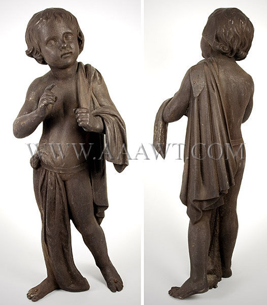 Charming Cast Iron Boy, entire view