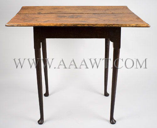 Table, Tea Table, Queen Anne New England Mid 18th Century, angle view