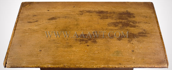 Antique Work/Tavern Table in Original Surface, New England, Circa 1730, top detail