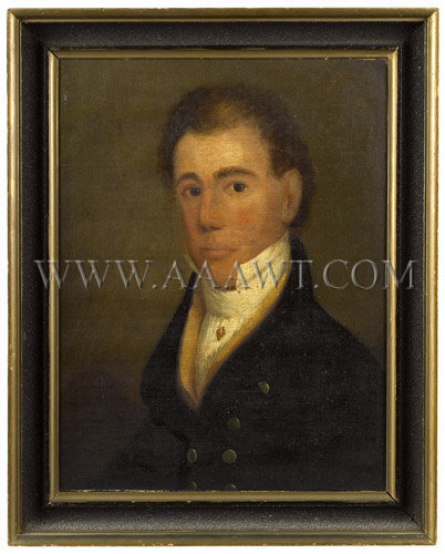 Portrait of a Man William P. Codman Maine Circa 1815, entire view
