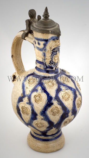 Westerwald, Stoneware, Ewer