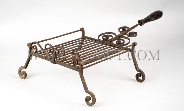 Exceptional Wrought Iron Grill  Anonymous  18th Century, entire view