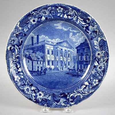 Bank of the United States Philadelphia Plate Stubbs Spread Eagle Border, entire view