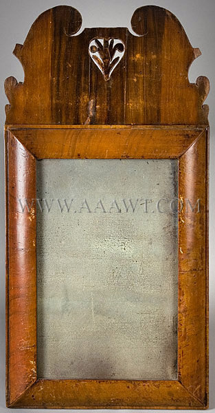 Veneered Looking-Glass Probably London Circa 1710, entire view