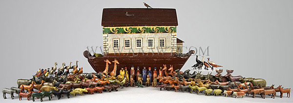 Toy, Noah's Ark Germany 19th Century, entire view