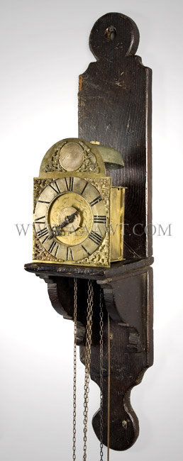 Traveling Lantern Alarm Clock By John Payne (1731 to 1735), Lenham Mid 18th Century, angle view