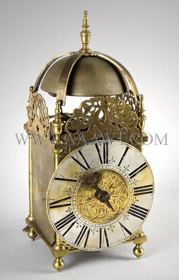 Lantern Clock By William Risbridger Dorking, England Circa 1700-1720, entire view