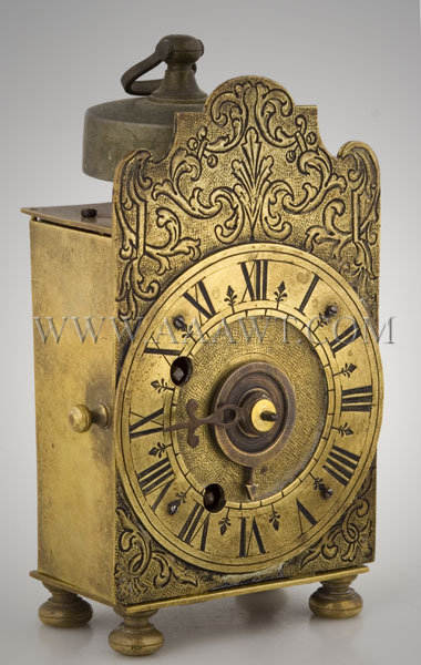Traveling Alarm Clock Continental Mid-18th Century, entire view