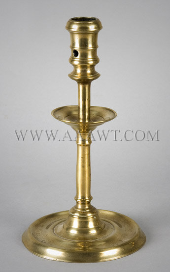 Candlestick, French Pillar  A large and fine elegant interpretation  16th Century, entire view