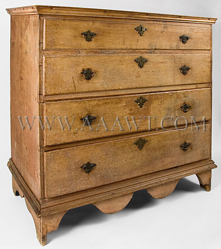 Blanket Chest With Two Drawers Original cut and chased brasses and escutcheons Probably Guilford, Connecticut Circa 1730, entire view
