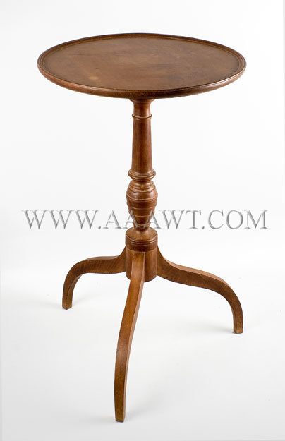 Dished Top Candlestand  New England  Circa 1800, entire view