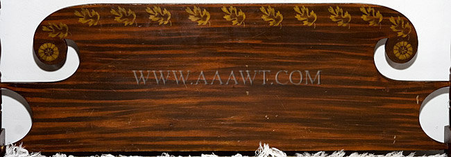 1830's Painted Bed, headboard detail