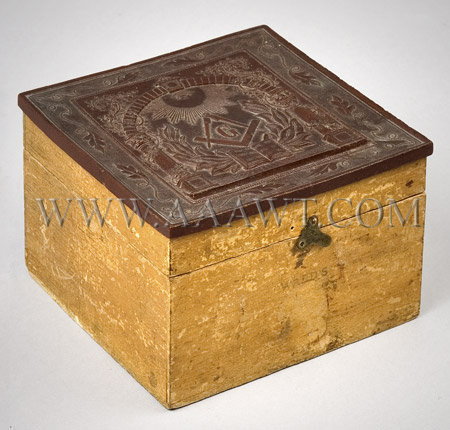 Masonic Motif Collar Box, entire view