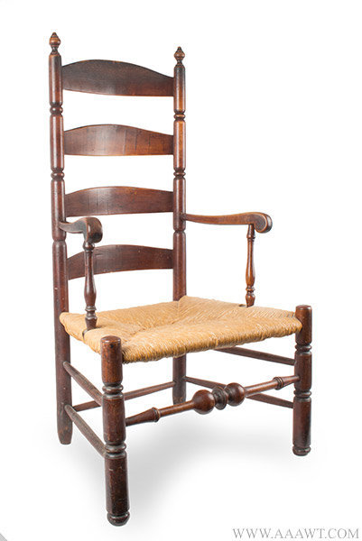 Antique Queen Anne Armchair with Great Color and Patina, Connecticut, 18th Century, angle view