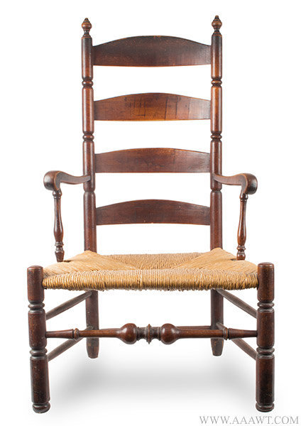 Antique Queen Anne Armchair with Great Color and Patina, Connecticut, 18th Century, entire view