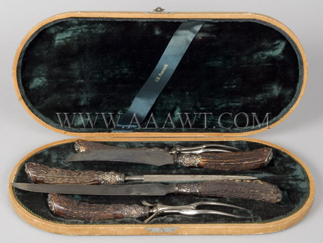 Landers, Frary & Clark Carving Set, case view 1