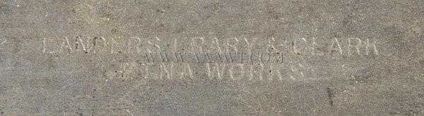 Landers, Frary & Clark Carving Set, lettering detail