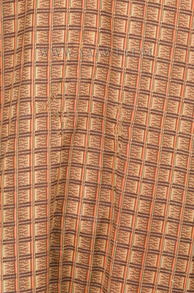 Antique Banyan, Man's Robe, Early 19th Century, fabric detail