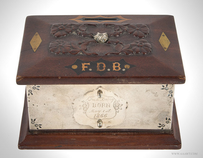 Antique Presentation Still Bank from the Berry Family, 19th Century, angle view