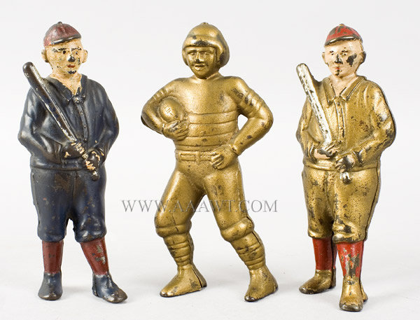 Antique Banks, Baseball Players, Football Player, group view