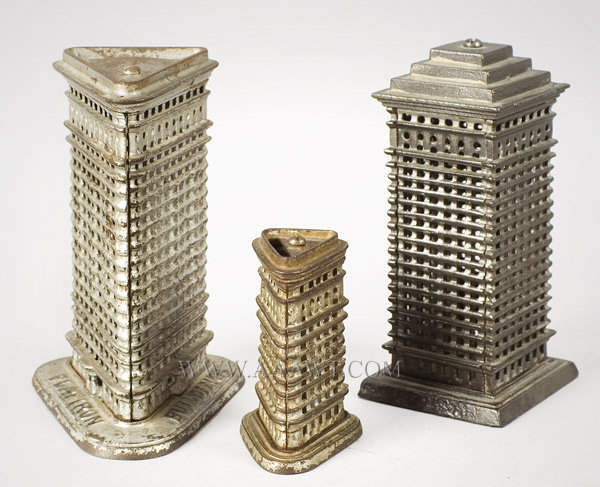 Antique Banks, Flat Iron Buildings, Skyscraper, group view