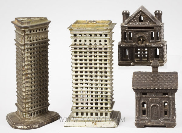 Antique Banks, Still Banks, Iron Building, House, Skyscraper, group view