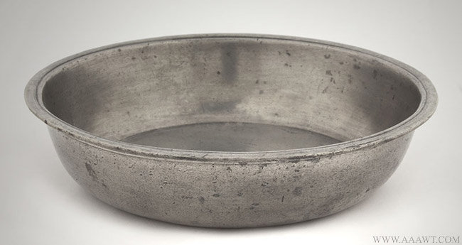 Antique Pewter Basin, Albany, New York, entire view