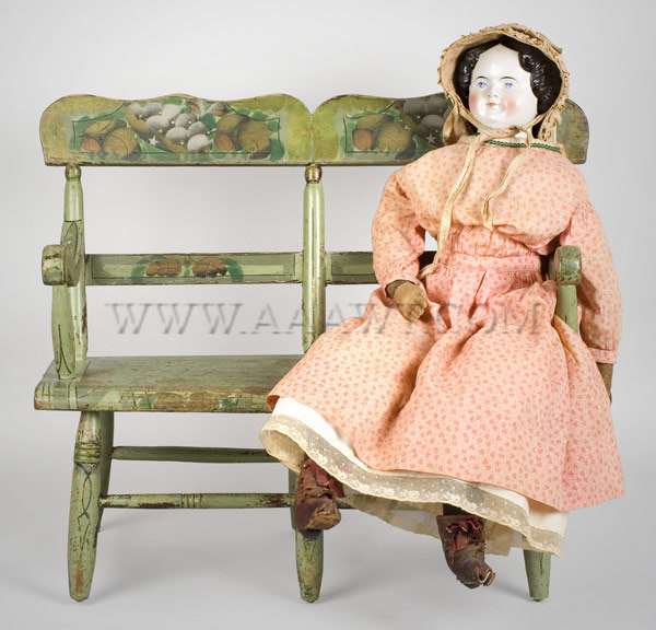 Child's Settee, Doll, entire view