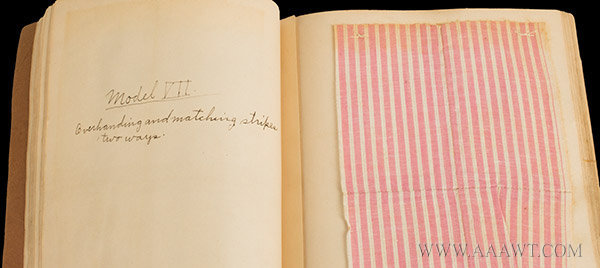 Antique Sewing Book by Artemisia Mehlman, page detail 2