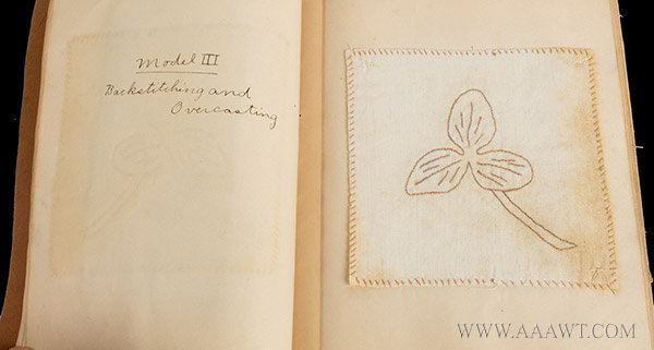 Antique Sewing Book by Artemisia Mehlman, page detail 4