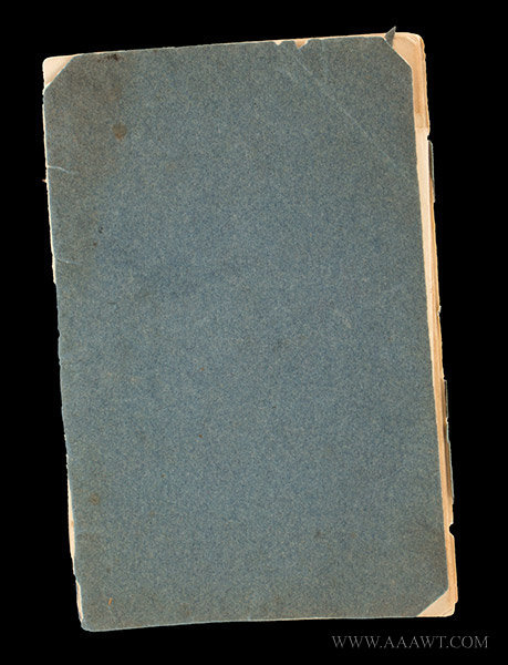 Academy or Schoolgirl Maps; Ink on Paper; Circa 1826 Hand drawn miniature maps of Eastern U.S. States, cover view