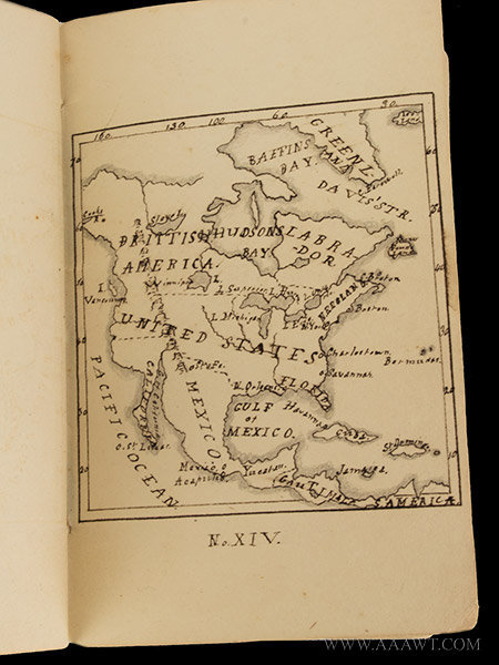 Academy or Schoolgirl Maps; Ink on Paper; Circa 1826 Hand drawn miniature maps of Eastern U.S. States, page 6