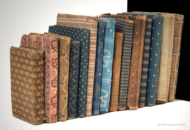 Antique Collection of Cloth Covered Children's Books, Circa 1825 to 1900, group view 2