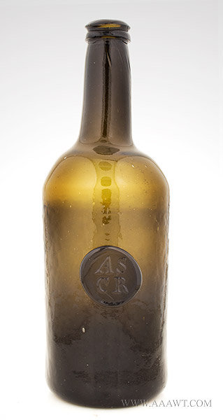 Blown Sealed Wine Bottle, ASCR, All Souls Common Room, All Souls College, Oxford  England, 19th Century, entire view