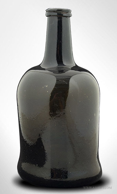Antique Cylinder Form Blown Wine Bottle, English, Circa 1780, entire view