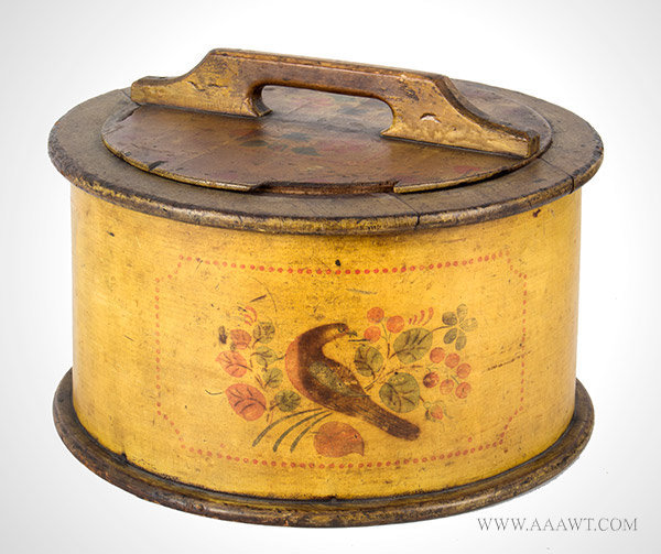 Cake Box, Bentwood Donut Box, Original Paint and Decoration,  Pennsylvania, Second Half 19th Century, entire view