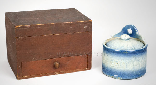 Document Box and Stoneware Salt Box, group view