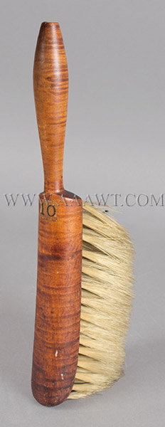 Brush, Shaker, Curly Maple, entire view