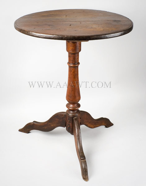 Table, Candlestand, Original Surface 18th Century New York, entire view