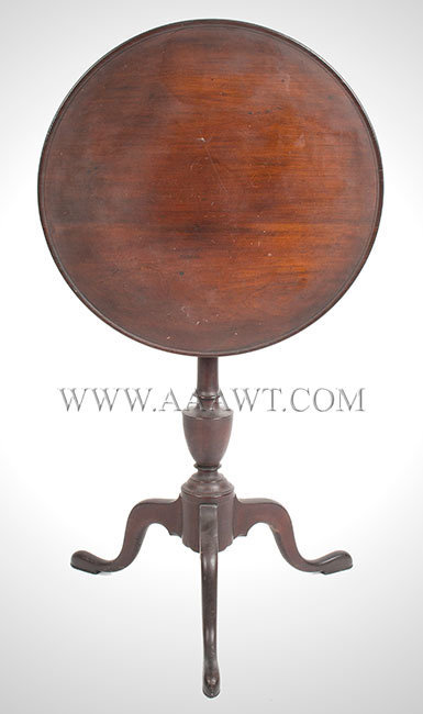 Candlestand, Circular Dished and Tilt Top, Great Surface