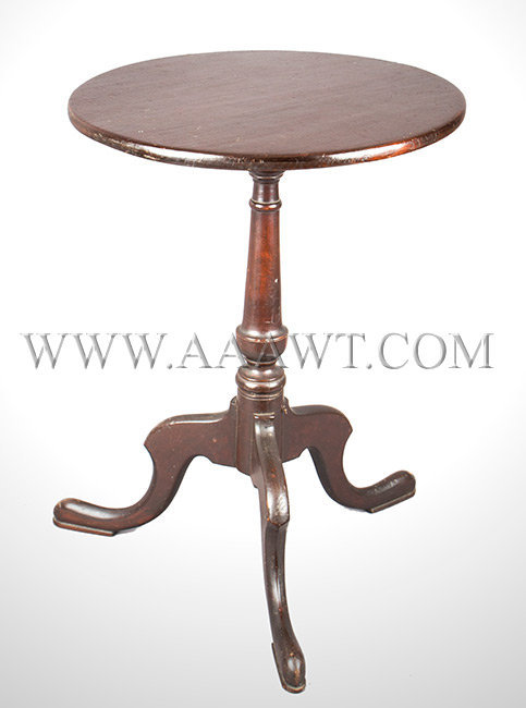 Candlestand, Federal, Round Top, Possibly Original Surface  Connecticut  Circa 1800, entire view