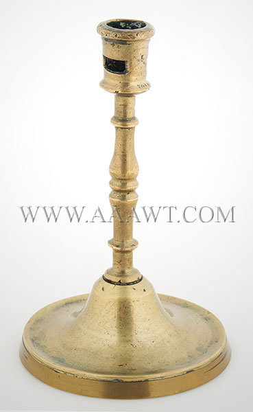 Gothic Candlestick, Brass  Probably French, Probably C. 1550, entire view