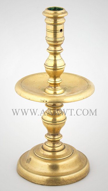 Heemskirk Candlestick, Brass, Refined and Sculptural  Dutch  Circa 1650 to 1675, entire view