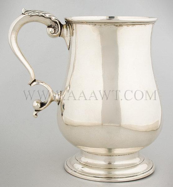Silver Cann Probably Boston (Unknown maker) Circa 1780, entire view