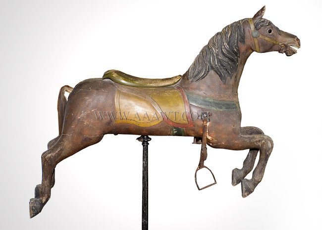 Carousel Horse, Jumper, Glass Eyes, Original