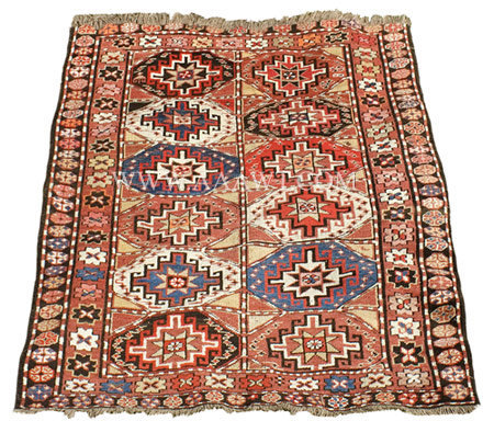 Antique Rug, Moghan, Azerbaijan, Circa 1900, entire view