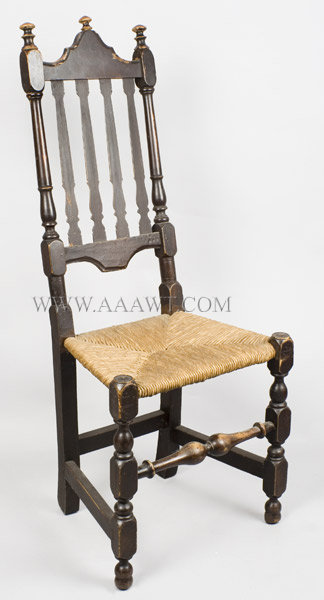 William and Mary Banister Back Side Chair, EX Roger Bacon